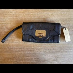 NWT Cole Haan Black Wristlet Clutch